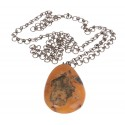"""Antique amber pendant """"The Heart of Lithuania"""""""