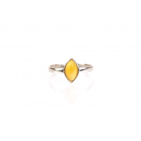 """Silver ring with amber """"The Valley of Honey"""""""