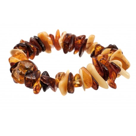 Bracelet with warm amber hues