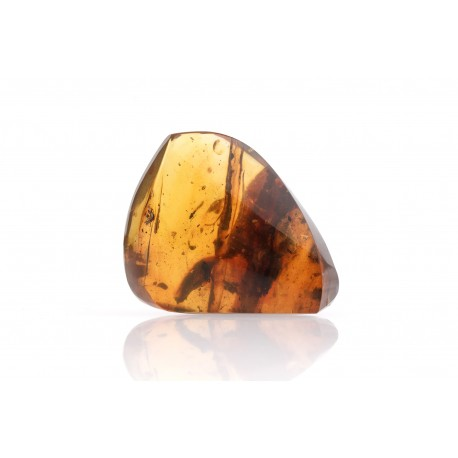Clear amber with an inclusion