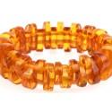 Antique, light-yellow amber bracelet