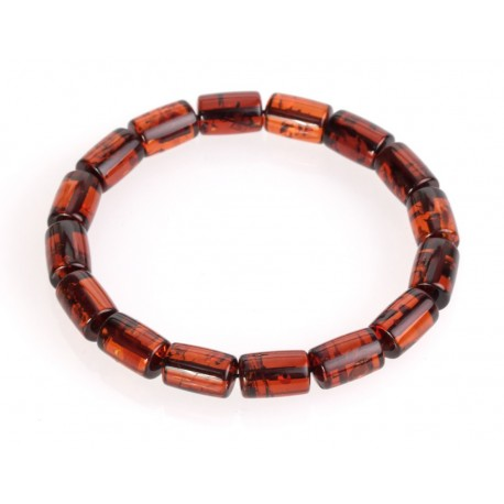 Amber bracelet with cognac amber
