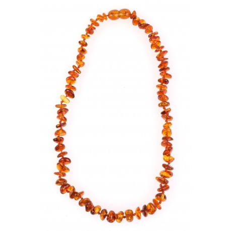 Children beads of yellow-colour amber