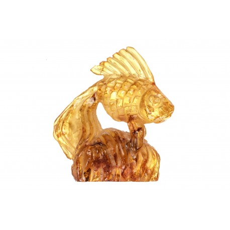 "Amber figurine "" A Golden Fish"""
