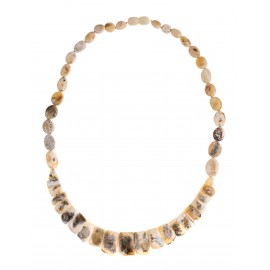 """White amber necklace """"Miracles"""""""
