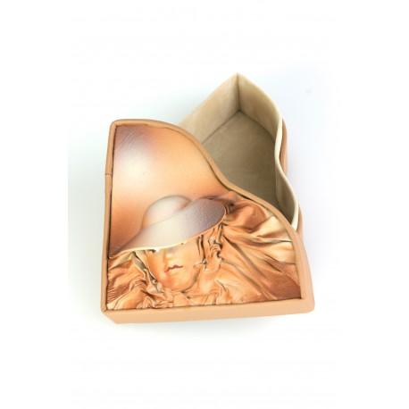 """Natural leather box """"The Mysterious One"""""""