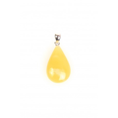 Amber pendant with a silver loop
