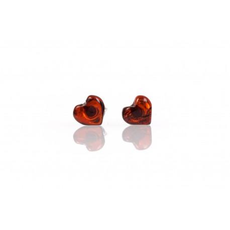"""Amber - silver earrings """"Ripen Heart"""""""