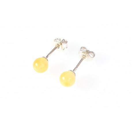 "Silver - amber earrings ""A Drop of the Sun"""