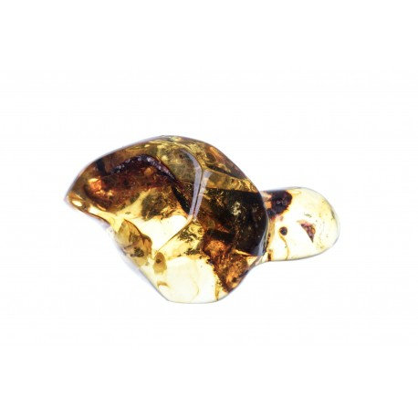 Clear amber nugget with an inclusion
