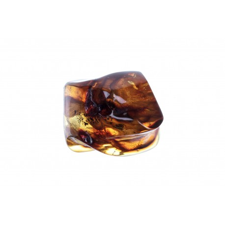 Clear yellow and brown amber nugget