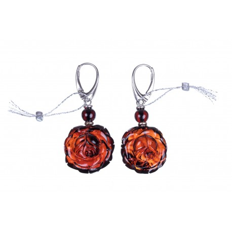 "Cherry amber earrings ""A Ripen Cherry"""