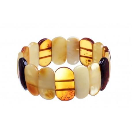 Multicoloured, Baltic Sea amber bracelet