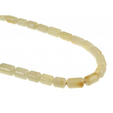 White amber beads