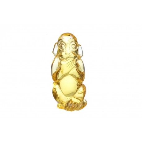 Amber figurine of a monkey's form