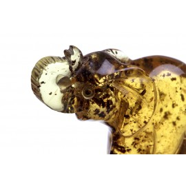 Clear yellow amber figurine