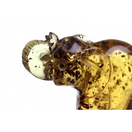 Clear yellow amber figurine