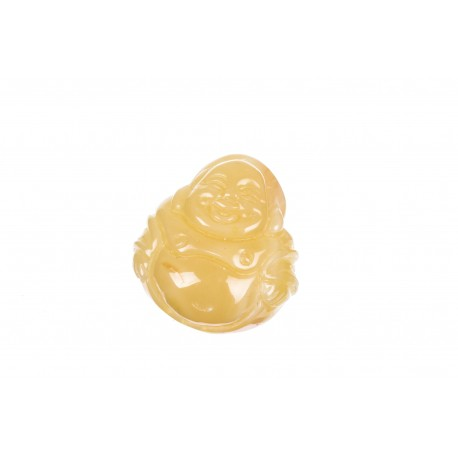 Yellow amber figurine of Buddha