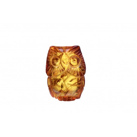 "Cognac colour, amber figurine ""An Owl of the Wisdom"""