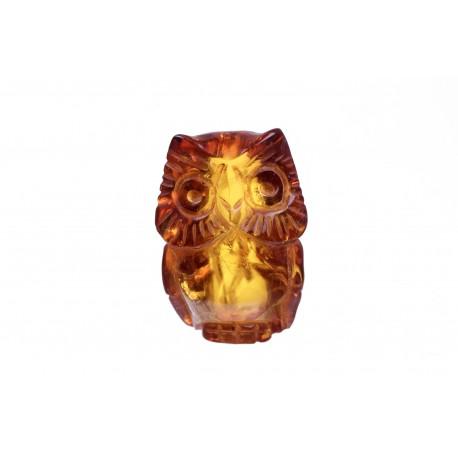 Cognac amber figurine - an owl