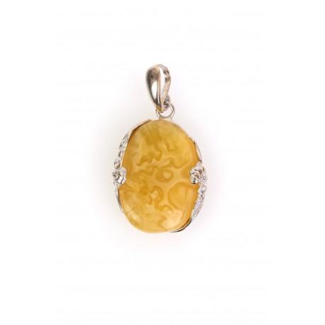 Yellow, Baltic Sea amber pendant
