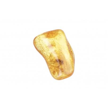 Geltonas gintaras su inkliuzu