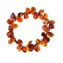 Clear, cognac amber bracelet