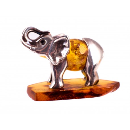 "Silver-amber figurine ""Elephant"""