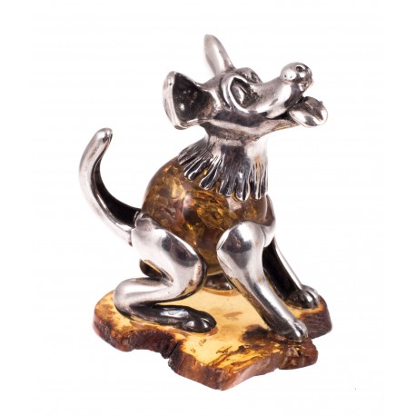 "Amber-silver figurine ""The Best Friend"""