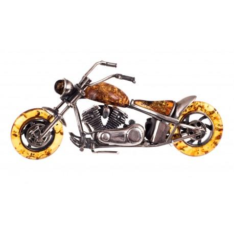 """Gintaro  -  sidabro figūrėlė """"Motociklas"""""""