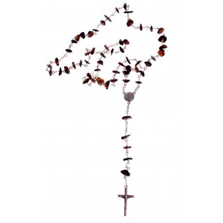 Konjakinio gintaro krikščioniškas rožinis