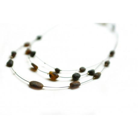 "Amber necklace ""Morning Coffee"""