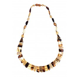 Classical amber necklace