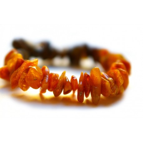 Yellow and brown amber bracelet