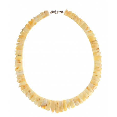 Royal white  Baltic amber necklace