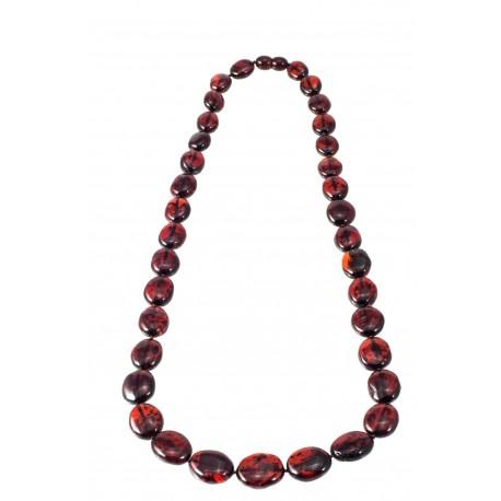 Dark cognac color necklace