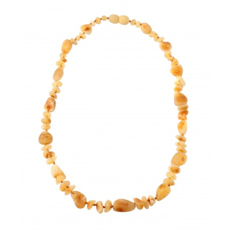 Yellow honey color amber necklace