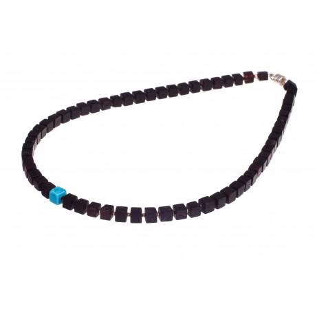 Children black amber beads