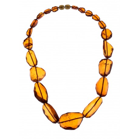 Warm hues' amber necklace