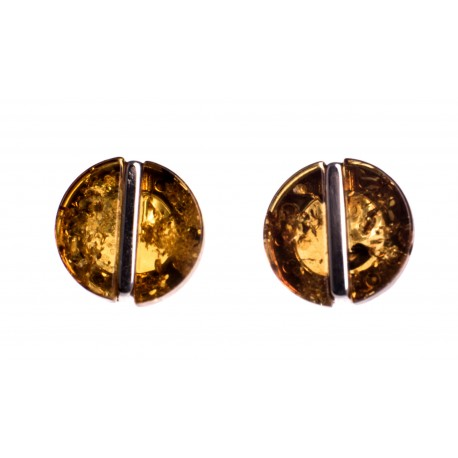 """Silver earrings with amber """"The Secret of Amber"""""""