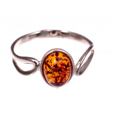 """Gintaro - sidabro žiedas """"Vasaros medus"""""""