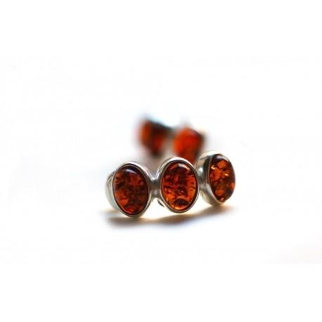 """Silver-amber earrings """"Lollipops"""""""