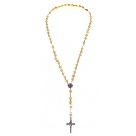 Christian amber rosary