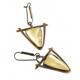 "Brass earrings ""Threads"""