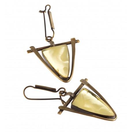 """Brass earrings """"Threads"""""""