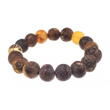 Black Baroque amber bracelet
