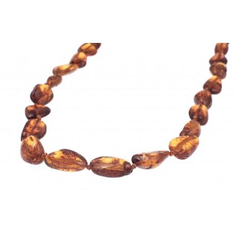 Trasparent cognac color amber beads