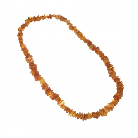 Honey-colored natural amber beads