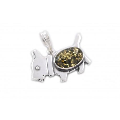 """Silver pendant  """"Loyal Friend"""""""