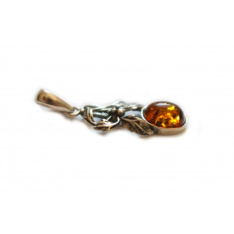 "Silver pendant ""Amber Cluster"""